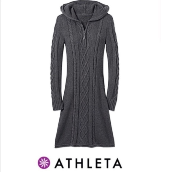 0fabc9ef177 Athleta Dresses   Skirts - Athleta Hut To Hut Hoodie Cable Knit Sweater  Dress